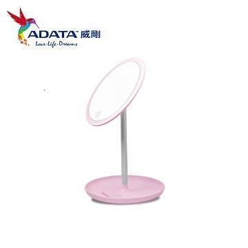 (展示機)ADATA威剛 LED心肌補光化妝鏡檯燈 粉紅色