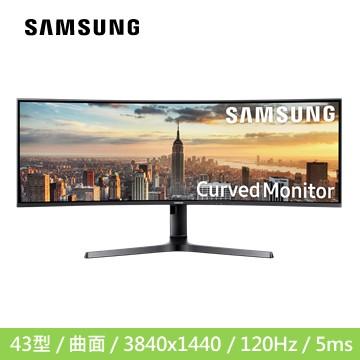 (福利品)【43型】SAMSUNG C43J890DKE 曲面液晶顯示器