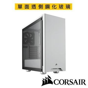 CORSAIR 275R 鋼化玻璃 電腦機殼-白