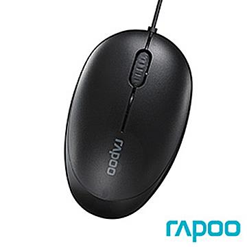 雷柏 N1500 有線滑鼠-黑