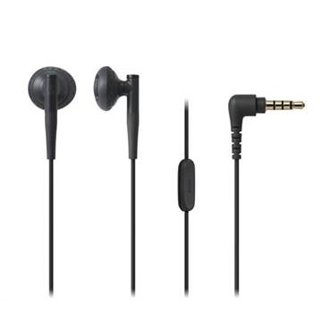 (福利品)鐵三角Audio-Technica 耳塞式耳機-黑 ATH-C200iS BK
