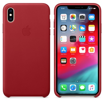 iPhone XS Max 皮革保護殼-紅色(PRODUCT)
