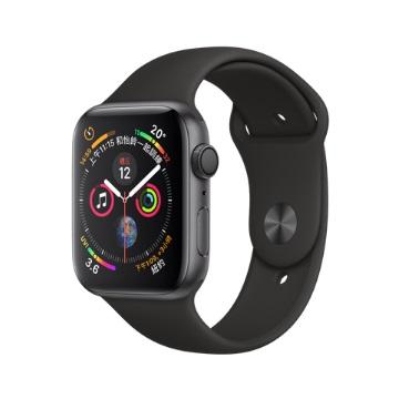 【GPS版44mm】Apple Watch S4/灰鋁/黑運動錶帶