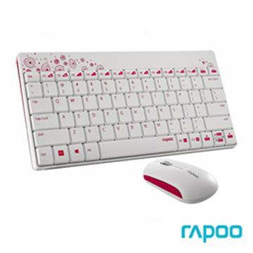 雷柏Rapoo 8000 無線光學鍵鼠組 白 8000/WH