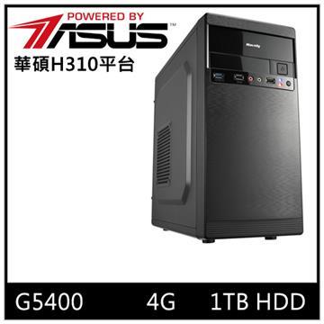 ASUS華碩H310平台[神光勇士]桌上型電腦(G5400/H310/4GD4/1TB)