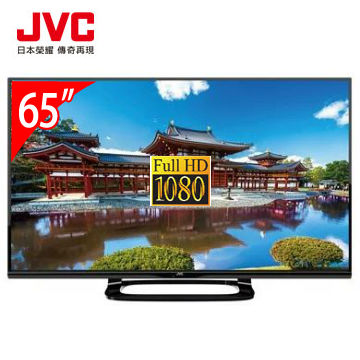 【展示機】JVC 65型FHD液晶顯示器+視訊盒