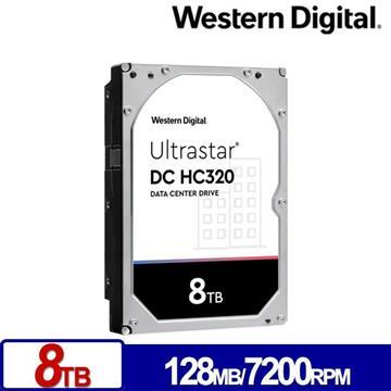 WD威騰 3.5吋 8TB Ultrastar DC HC320企業硬碟(HUS728T8TALE6L4(0B36404))