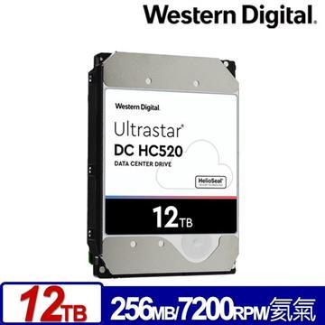 WD 3.5吋 12TB Ultrastar DC HC520企業硬碟