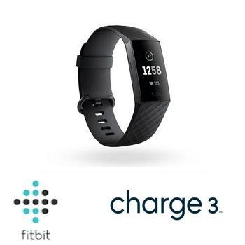 Fitbit Charge 3智慧手環 - 黑框黑錶帶
