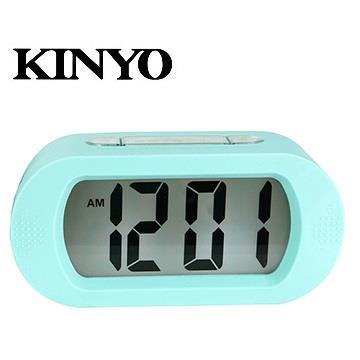 (福利品)KINYO 炫彩繽紛LCD電子鐘
