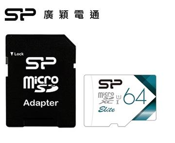 SP廣穎 MicroSD U1 V21 64GB記憶卡(含轉卡)