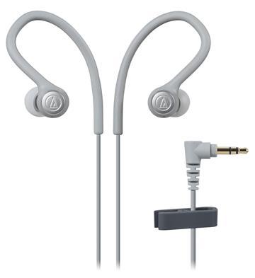 (福利品)鐵三角Audio-Technica 入耳式運動耳機-灰