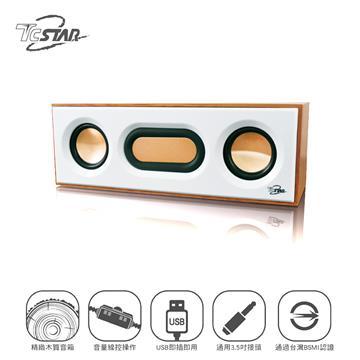 T.C.STAR TCS2108 2.0 USB木質多媒體喇叭