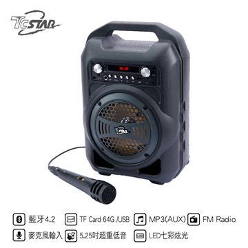 (展示機)T.C.STAR藍牙KTV音箱(內附有線麥克風)