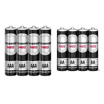 (組合包)國際牌Panasonic 錳乾電池3號4入+4號4入