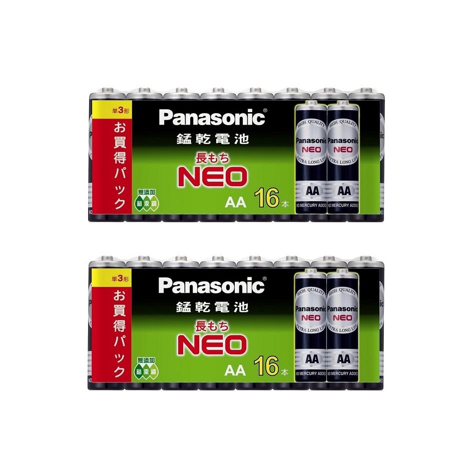國際牌Panasonic 錳乾電池3號16入2組