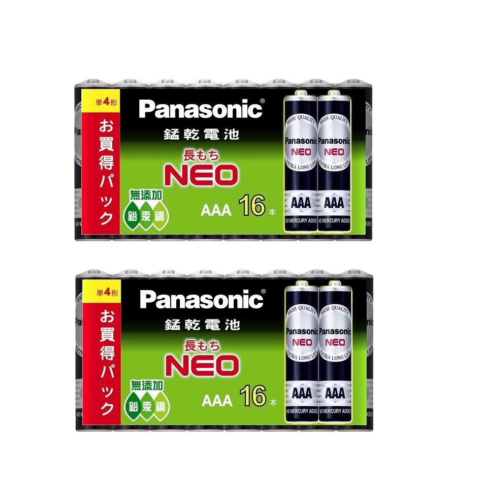 國際牌Panasonic 錳乾電池4號16入2組