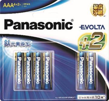 國際牌Panasonic EVOLTA鈦元素電池4號6入