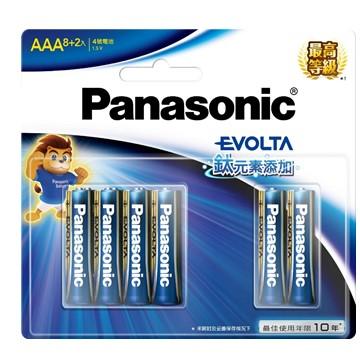 國際牌Panasonic EVOLTA鈦元素電池4號10入