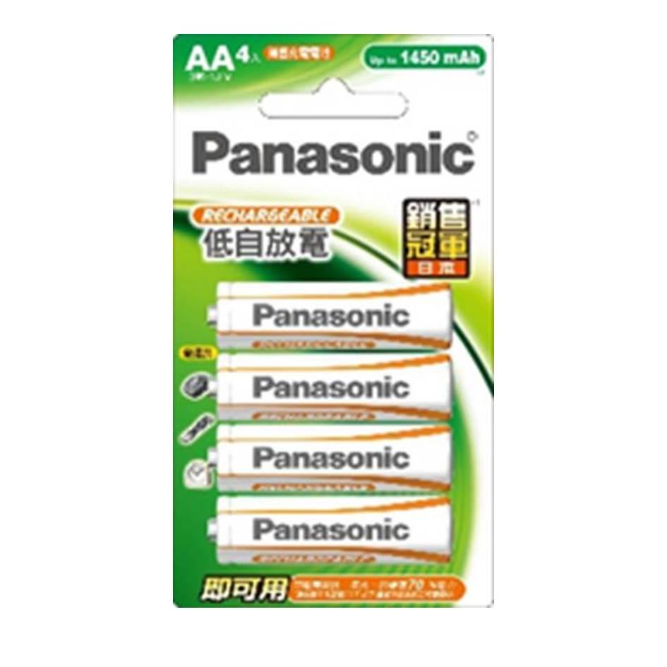 國際牌Panasonic 經濟型充電電池3號4入