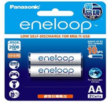 國際牌Panasonic eneloop充電電池3號2入