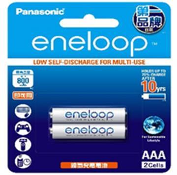 國際牌Panasonic eneloop充電電池4號2入