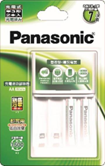 國際牌Panasonic 智控型充電器+充電電池3號2入 K-KJ173MVT2TW