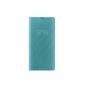 SAMSUNG Galaxy S10 LED皮革翻頁式皮套-綠