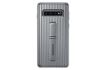 SAMSUNG Galaxy S10+立架式保護皮套-銀