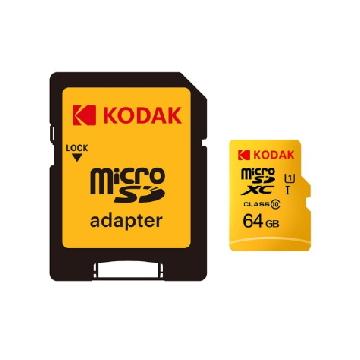 Kodak MicroSD U1 64G 記憶卡-含轉卡