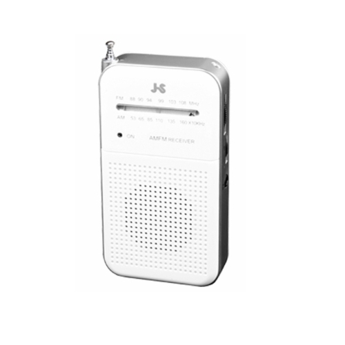 JS 收音機(白色)