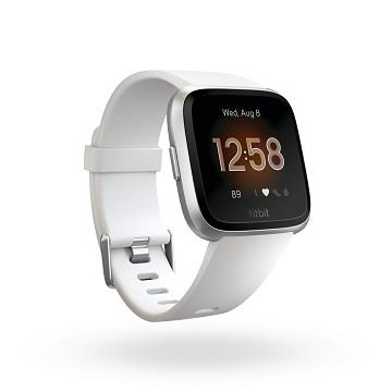 Fitbit Versa Lite 智慧手錶-銀框白錶帶