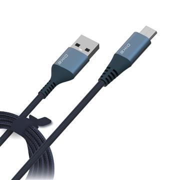 DIKE MicroUSB 2.4A強韌耐磨快充線2.2M-藍