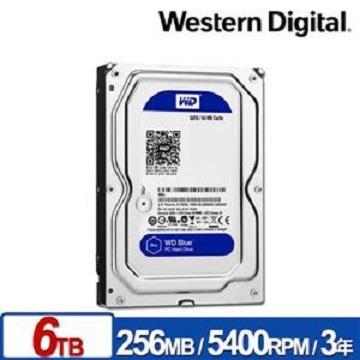 WD 3.5吋 6TB SATA硬碟(藍標)