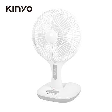 KINYO 8吋充電式折疊風扇