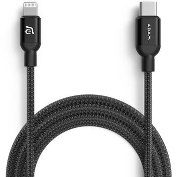 亞果元素ADAM USB-C to Lightning充電傳輸線1.2m-黑