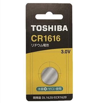 東芝TOSHIBA 鈕扣電池 CR1616-1入卡