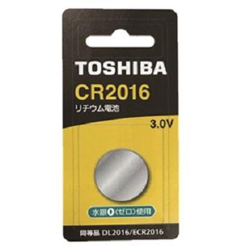 東芝TOSHIBA 鈕扣電池 CR2016-1入卡 CR2016