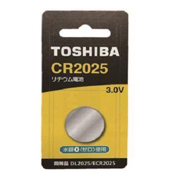 東芝TOSHIBA 鈕扣電池 CR2025-1入卡 CR2025
