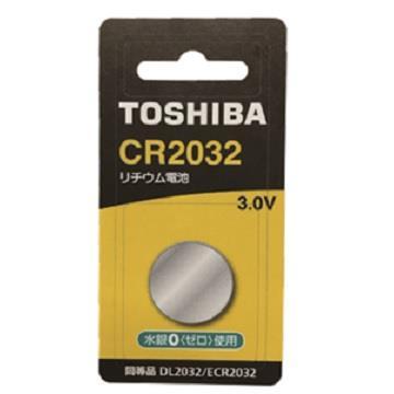 東芝TOSHIBA 鈕扣電池 CR2032-1入卡 CR2032