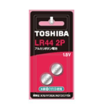東芝TOSHIBA 鈕扣電池 LR44-2入卡