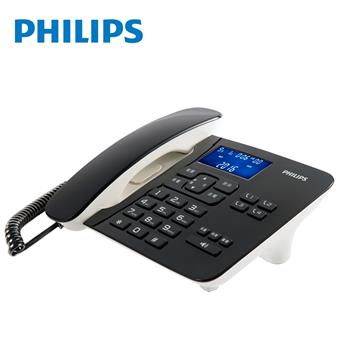 飛利浦PHILIPS 超大螢幕有線電話 黑