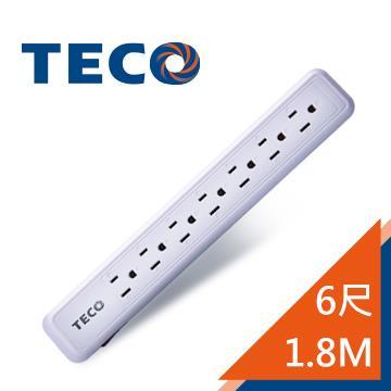 東元1切7座3孔1.8M延長線