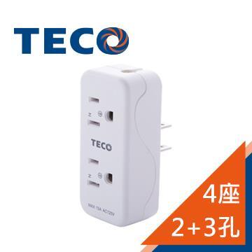 東元TECO 4座2+3孔擴充座