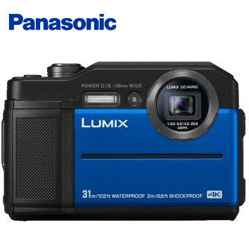 (福利品)國際牌Panasonic TS7防水類單眼相機 藍