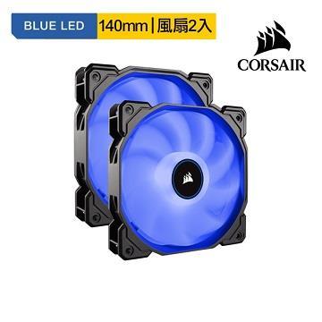 CORSAIR AF140 LED 散熱風扇-藍光-雙包裝 AF140LED-DPBL2018