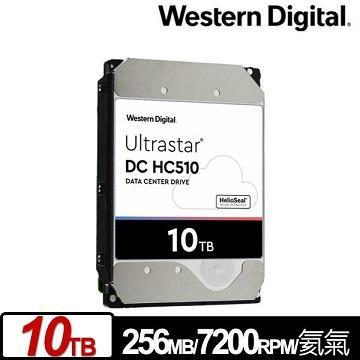 WD 3.5吋 10TB Ultrastar DC HC510企業硬碟