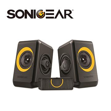 SONICGEAR quatro2多媒體音箱-黑橘