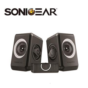 SONICGEAR quatro2多媒體音箱-黑灰 quatro2_GY