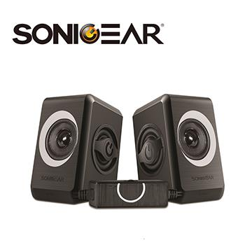 SONICGEAR quatro2多媒體音箱-黑灰